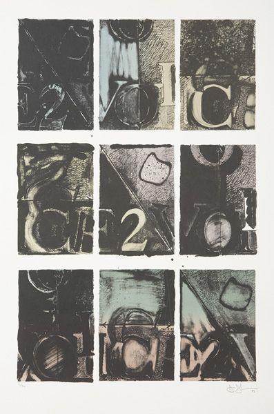 Jasper Johns-Voice 2 (ULAE 231)-1982