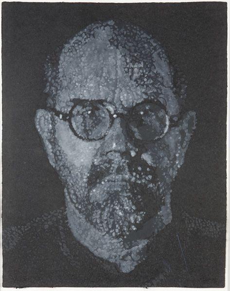 Chuck Close-Self-Portrait (Pulp/Pochoir)-2000