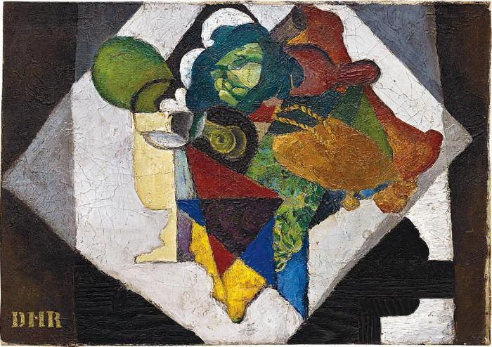Diego Rivera-Naturaleza muerta (Composicion con alcachofas y limones)-1916