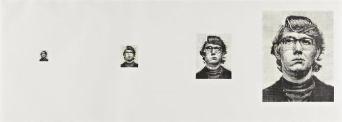 Chuck Close-Keith Four Times-1975