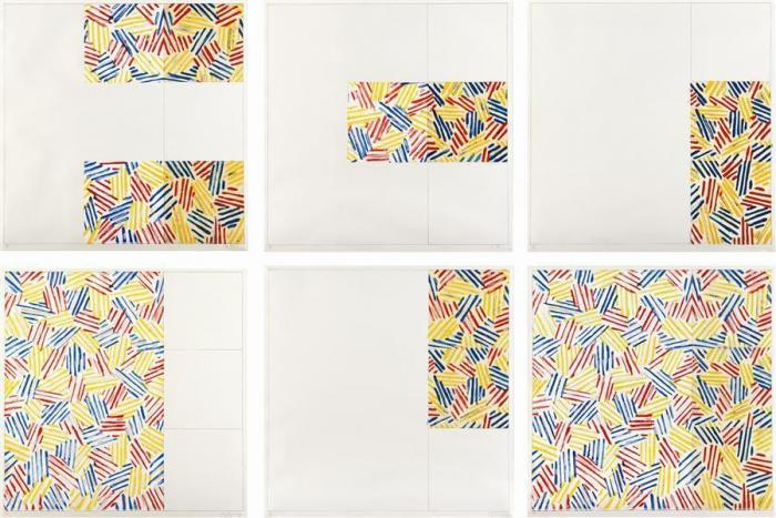 Jasper Johns-Six Lithographs (After 'Untitled 1975') (Ulae 174-179)-1976