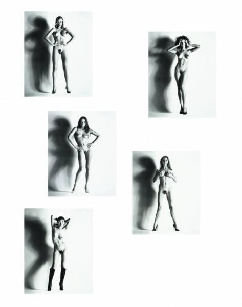 Helmut Newton-Big Nude Una, Nice, 1993; Big Nude Raquel, Nice, 1993; Big Nude Verina, Nice, 1993; Big Nude Camilla, Nice, 1993; And Big Nude Yuko, Nice (1993)-1993