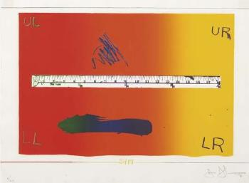 Jasper Johns-Ruler-1971