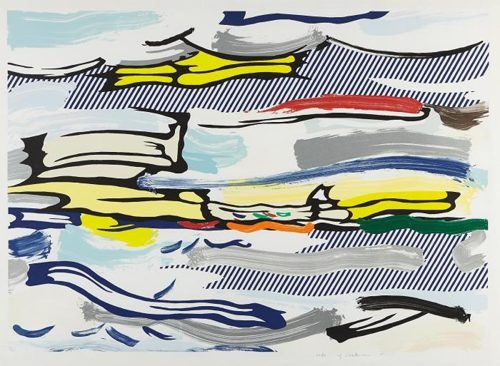Roy Lichtenstein-Seascape, from Landscape Series-1985