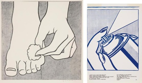 Roy Lichtenstein-Foot Medication Poster; Spray Can, from 1c Life-1963