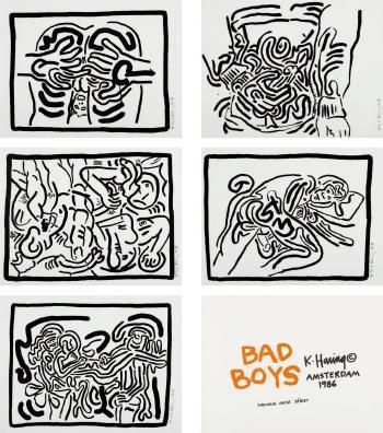 Keith Haring-Keith Haring - Bad Boys-1986