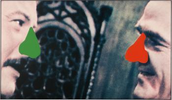 John Baldessari-Two Noses: Red, Green-2005