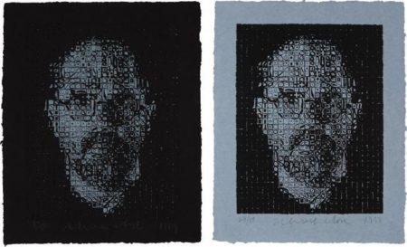Chuck Close-Self-Portrait I; Self-Portrait II-1999