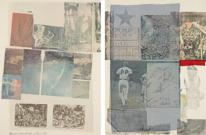 Robert Rauschenberg-Robert Rauschenberg - People Have Enough Trouble Without Being Intimidated By An Artichoke/Back Out (From Suite of Nine Prints)-1979