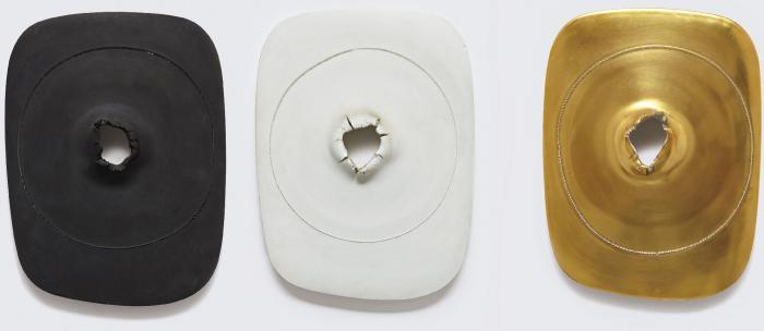 Lucio Fontana-Concetto Spaziale Cratere: three works-1968