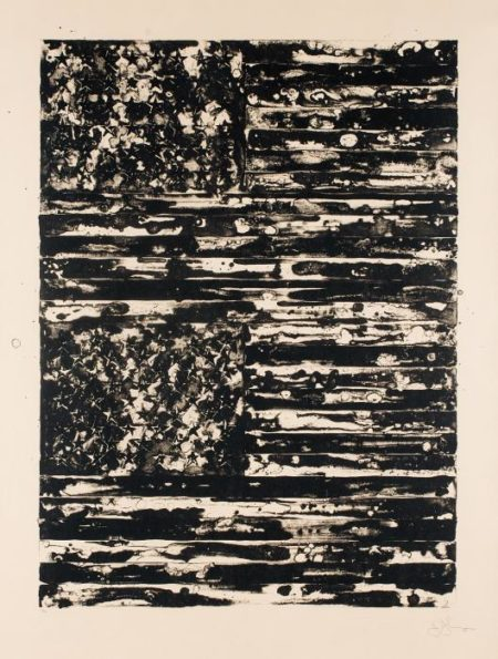 Jasper Johns-Two Flags (Universal Limited Art Editions 209)-1980