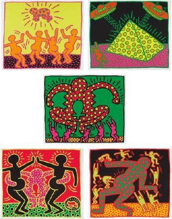 Keith Haring-Keith Haring - Untitled 1-5 (The Fertility Suite)-1983