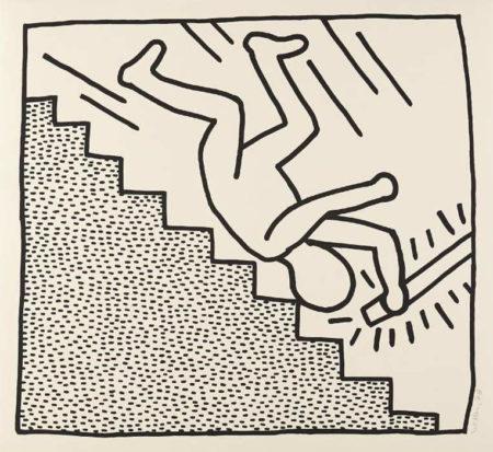 Keith Haring-Keith Haring - Blueprint Drawing #16-1990