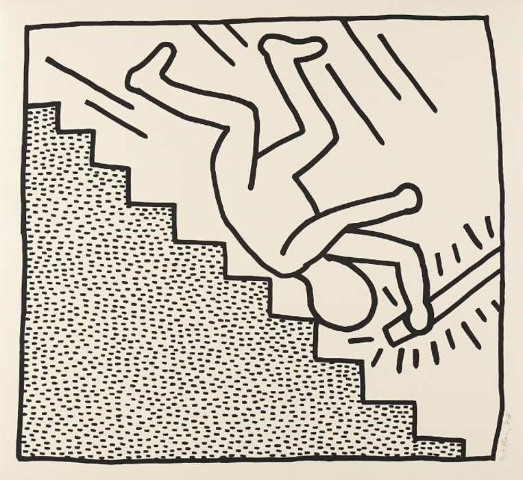 Keith Haring-Keith Haring - Blueprint Drawing #16-1990