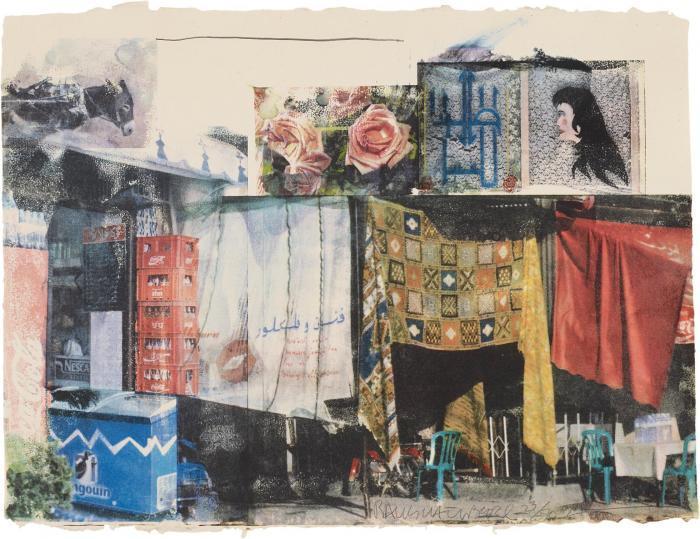 Robert Rauschenberg-Robert Rauschenberg - Vamp (From Marrakitch Series)-2000