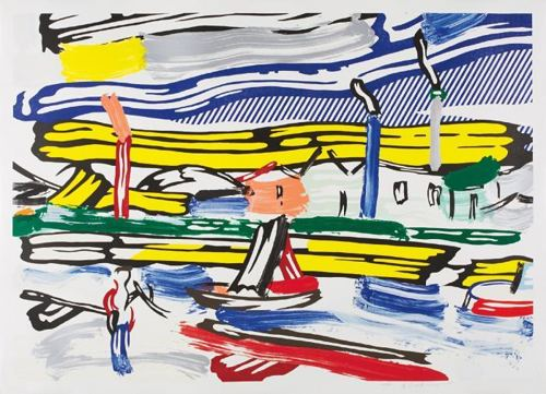 Roy Lichtenstein-The River (from the Landscapes series)-1985