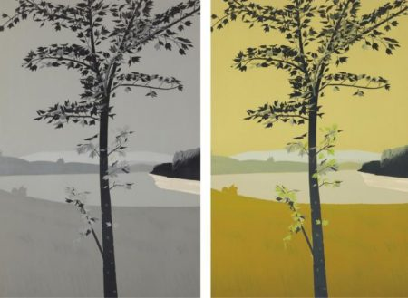 Alex Katz-Swamp Maple 1; Swamp Maple 2-1970