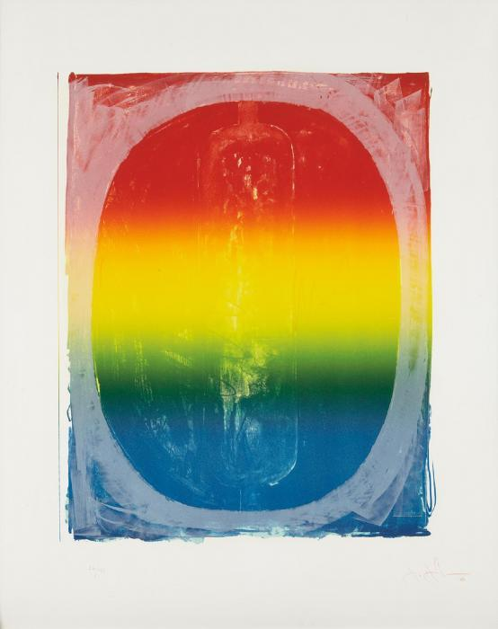 Jasper Johns-Figure 0, from Color Numerals Series-1969