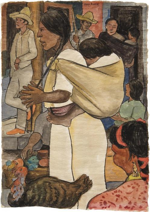 Diego Rivera-Turkey Market-1935