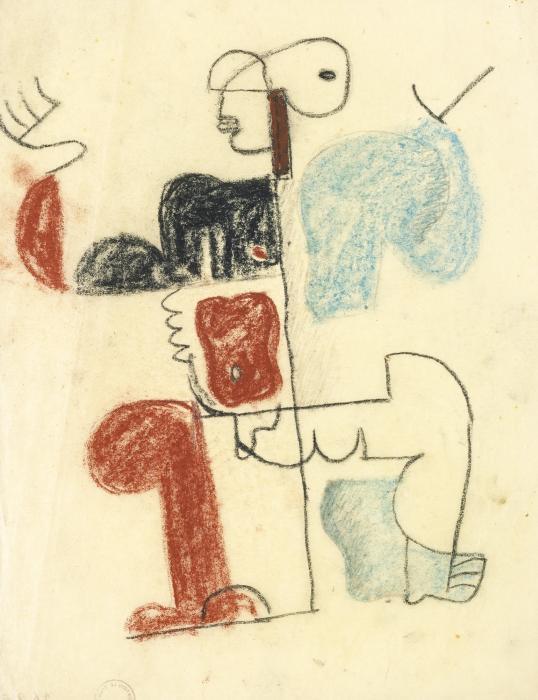 Le Corbusier-Studie Zu Divinites Marines-