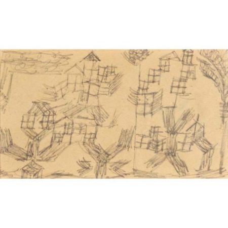 Paul Klee-Hauserbaume (Houses On Trees)-1918