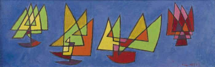 Paul Klee-Vier Egelschiffe (Four Sailships) (Quatre Voiliers)-1927