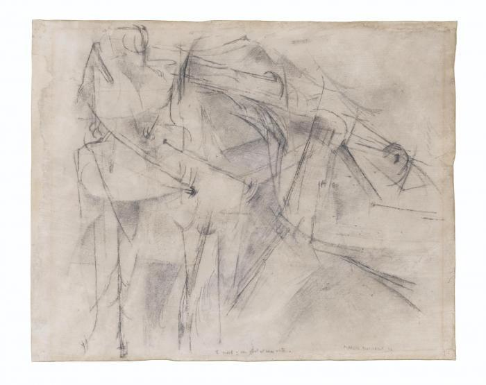 Marcel Duchamp-2 Nus : Un Fort Et Un Vite (Two nudes: one strong and one swif)-1912
