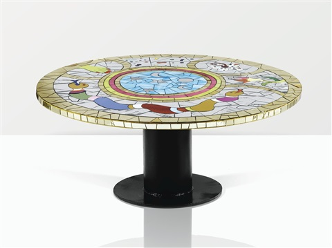 Niki de Saint Phalle-Table Basse Dite Table Ronde aux Serpents-1994