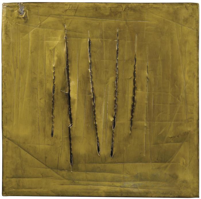Lucio Fontana-Concetto spaziale, New York 8-1962