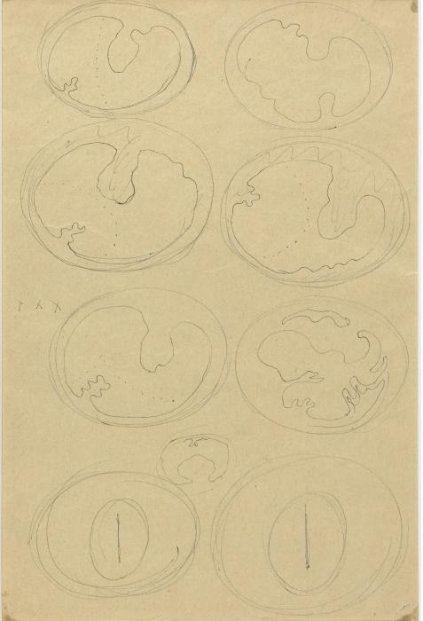Lucio Fontana-Studi per concetti spaziali. teatrini (double-face)-1966