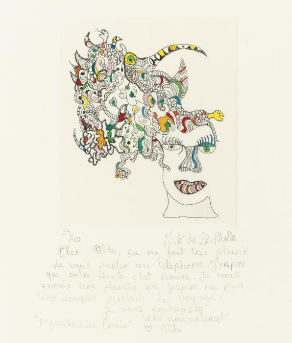 Niki de Saint Phalle-La Main; Psycolhogic Brain-1993