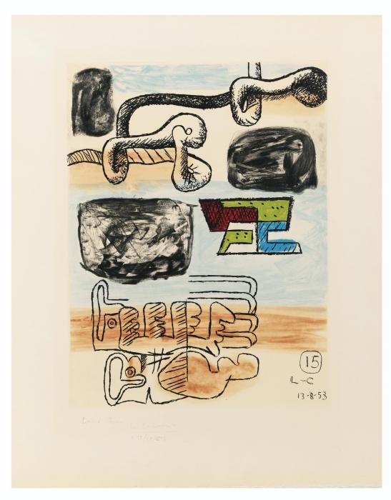 Le Corbusier-Unite, Planche 15-1963