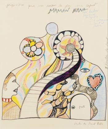 Niki de Saint Phalle-Maman nana (proposition pour une maison de jeu pour enfant)-