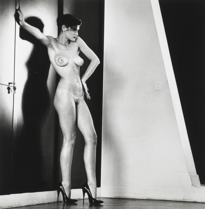 Helmut Newton-Sylvia in My Studio, Paris-1981
