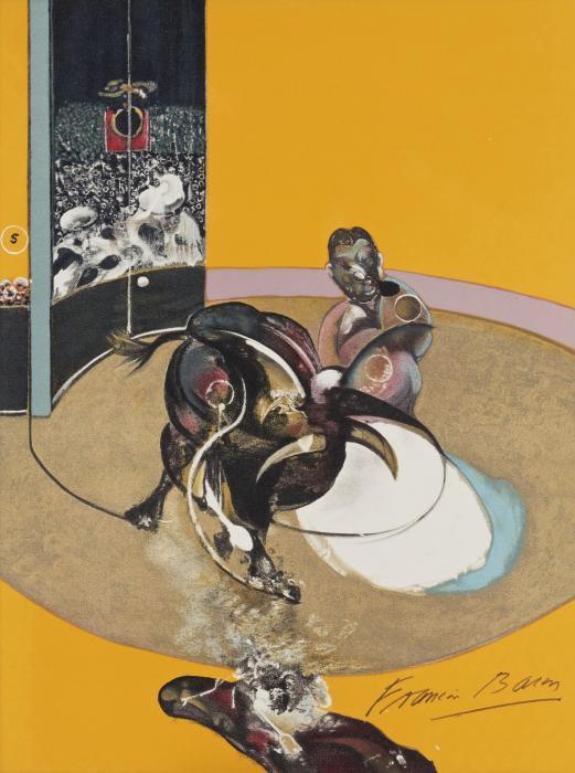 Francis Bacon-Miroir De La Tauromachie: Study For A Bullfight No. 1 (1990)-1990
