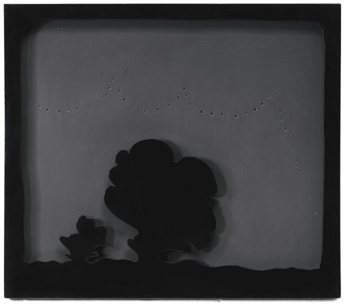 Lucio Fontana-Concetto Spaziale. Teatrino-1966