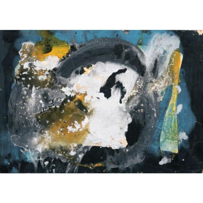 Lucio Fontana-Concetto spaziale-1955