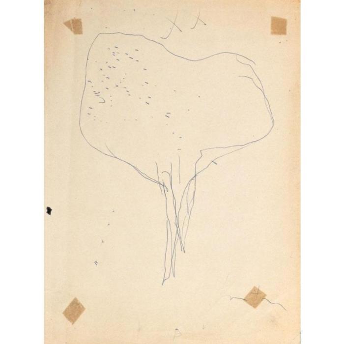 Lucio Fontana-Studi per inchiostri-1958