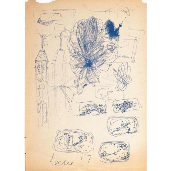 Lucio Fontana-Studi vari-1958
