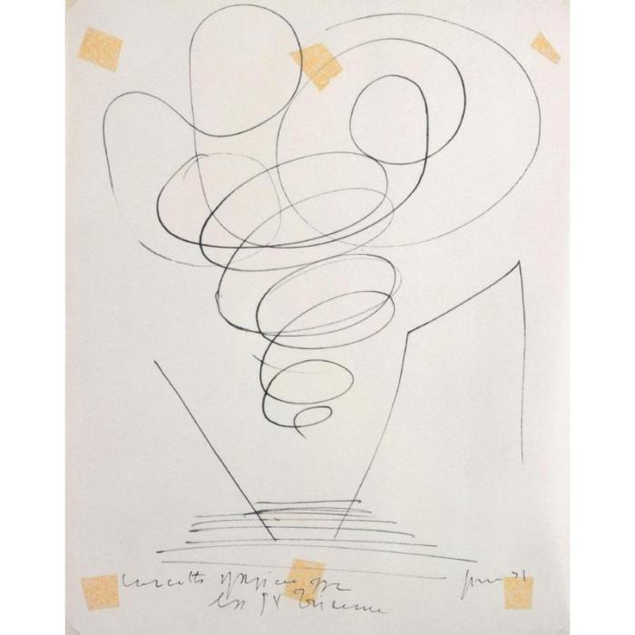 Lucio Fontana-Concetto spaziale IX Triennale-1951