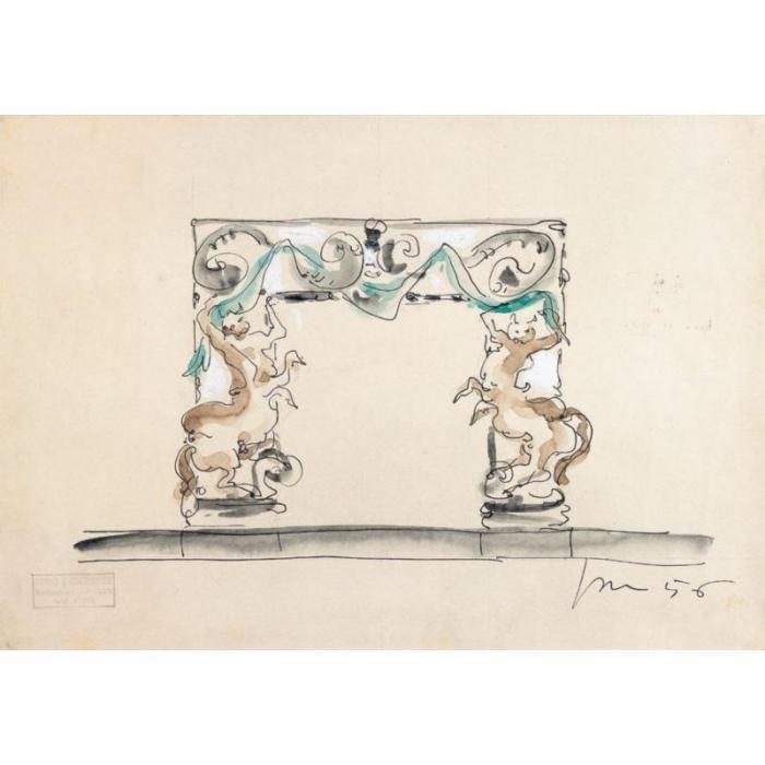 Lucio Fontana-Progetto per caminetto-1956