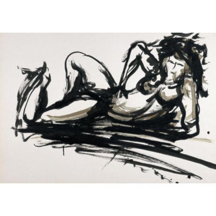 Lucio Fontana-Nudo femminile-1965