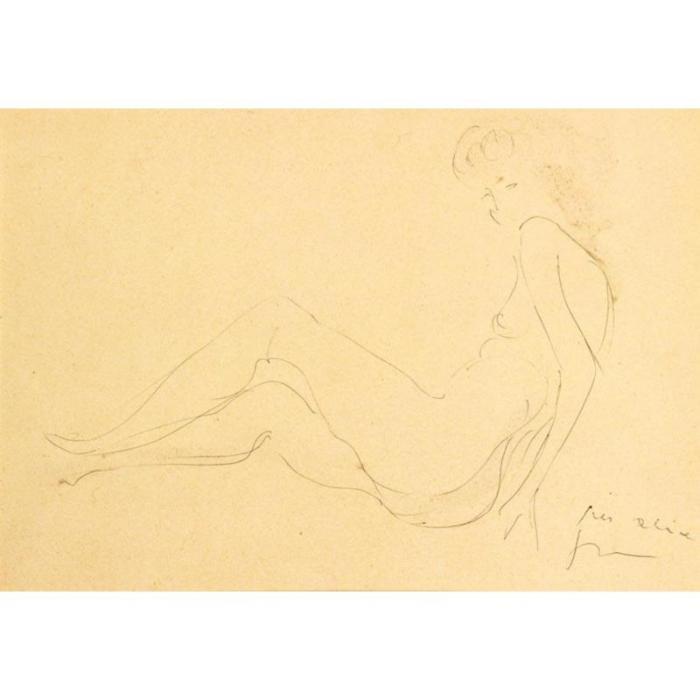 Lucio Fontana-Nudo femminile-1963
