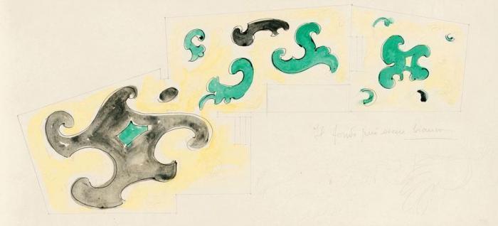 Lucio Fontana-Studio per soffitto-1955