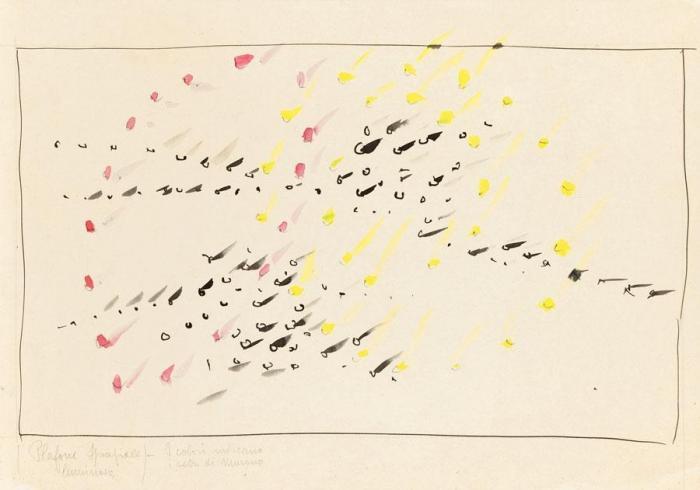 Lucio Fontana-Studio per soffitto-1956