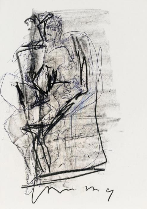 Lucio Fontana-Figura seduta-1955