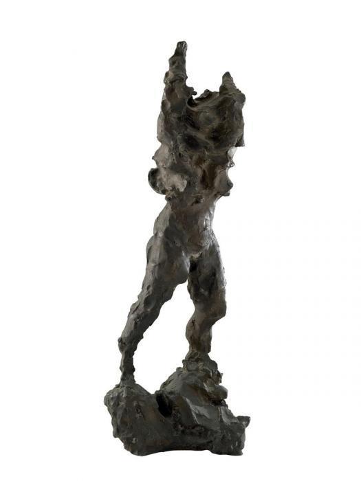Lucio Fontana-Viento en Catamarca - Mujer desnudandose-1947