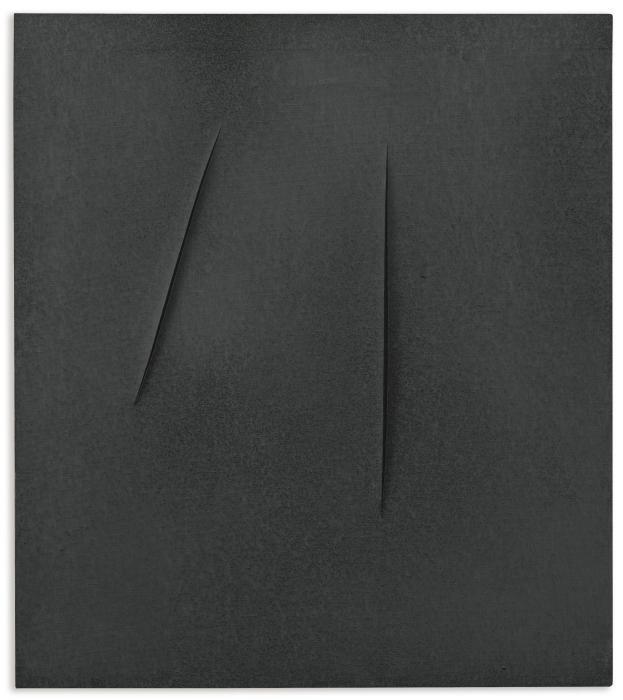 Lucio Fontana-Concetto spaziale, attese-1959