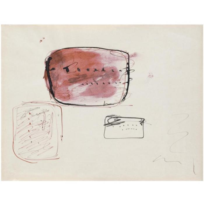 Lucio Fontana-Tre studi-1960
