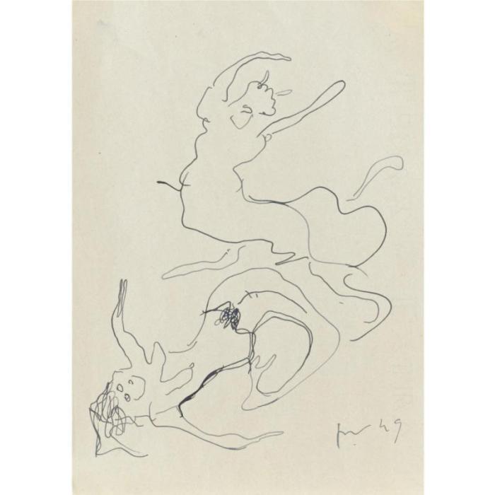 Lucio Fontana-Sirena e Centauro-1949